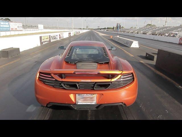 McLaren MP4-12C ALPHA Performance Tune - 10.1 @ 138 MPH Drag Racing 1/4 Mile w/ Launch Control