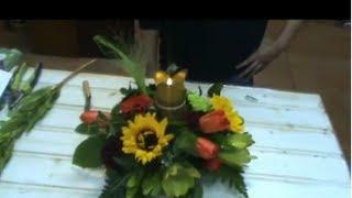 Cómo hacer un centro de mesa floral