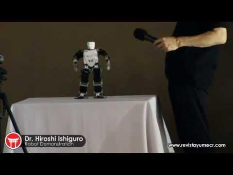 Conferencia del Dr. Hiroshi Ishiguro en Costa Rica - Demostración de robots