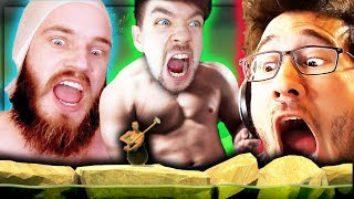 Ultimate Rage Compilation | pewdiepie , Jacksepticeye, Markiplier | Getting over it by bennett foddy
