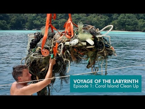 Voyage of the Labyrinth Episode 1:  Coral Island Clean Up   HD