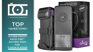 TUTORIAL | External Flash Battery Pack for CANON Flashes | F.A.Q Rapid Fire™ by Altura Photo®