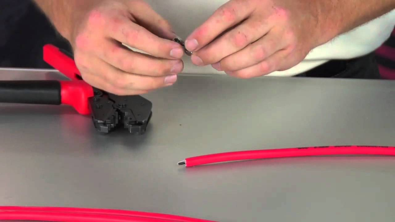 Crimping Spark Plug Wires Spark Plug Wire Crimping