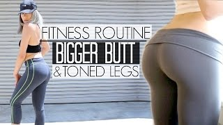 HOW TO GET A BIGGER BUTT & TONED LEGS | At Home Butt & Legs Workouts | Fitness Routine: Part 3