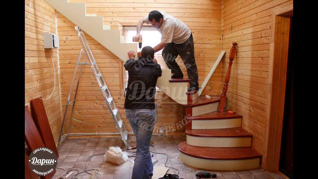 Ремонт лестницы в частном доме своими руками 50