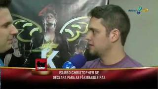 TV Fama: Rafael Pessina entrevista ex-RBD Christopher Uckermann!
