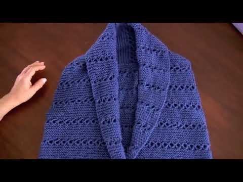 Chaleco tejido en dos agujas en punto peruano para damas