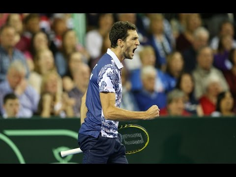 James Ward retrieves fabulously before hitting a deft winner against John Isner in their epic Davis Cup by BNP Paribas first round encounter. Click here to subscribe - http://goo.gl/Kk1Ft...