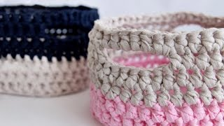 How to crochet basket .