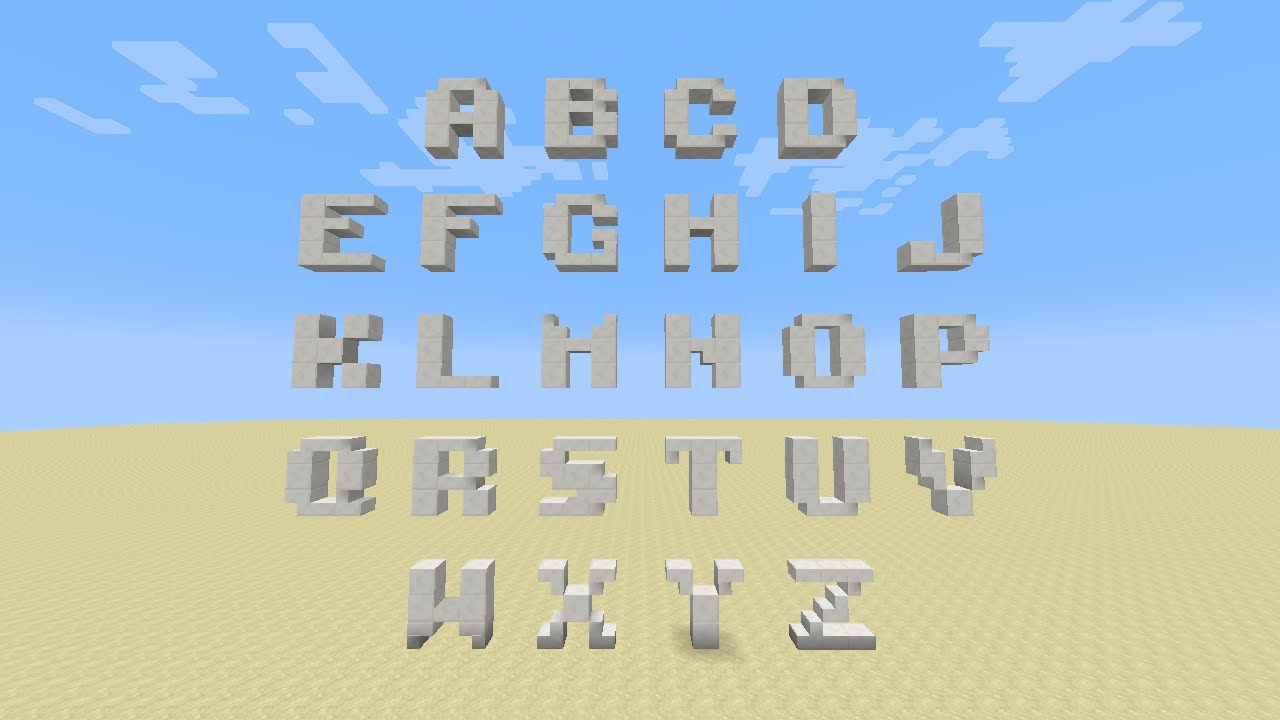 How To Make A Letter M In Minecraft