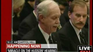 "US Airways Pilot Capt. ""Sully"" Sullenberger Speaks to Congress: ""My Pay Has Been Cut by 40%"""