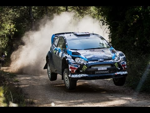 Ken Block And Alex Gelsomino Test For Wrc Spain 2014 video