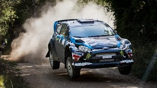 Ken Block and Alex Gelsomino test for WRC Spain 2014