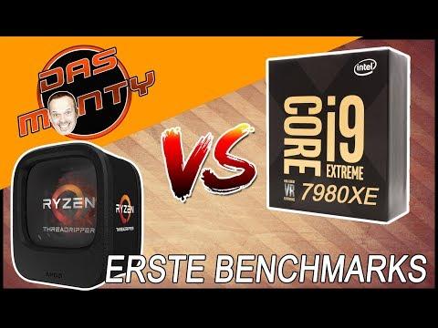 Intel Core i9 7980XE vs AMD Threadripper 1950x | RX Vega Lieferzeit Customdesings | DasMonty Deutsch