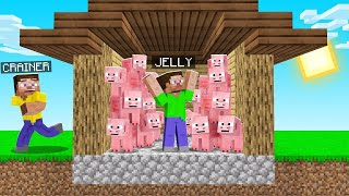 I Filled My FRIENDS HOUSE With PIGS In MINECRAFT! (troll)