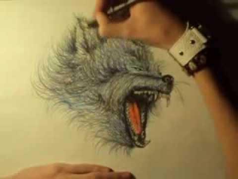 рисунки оборотней карандашом: