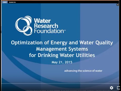 Webcast: Energy and Water Quality Management Systems for Drinking Water Utilities