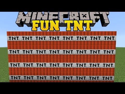 Minecraft: FUN TNT! (GRAVITY TNT,  INFINITE TNT, & ROBIN HOOD TNT!) Custom Command