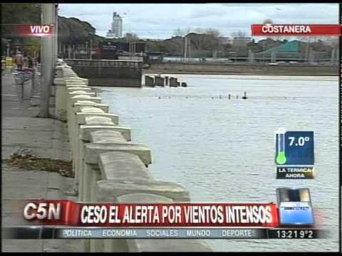 C5N - SOCIEDAD CESO EL ALERTA POR VIENTOS INTENSOS