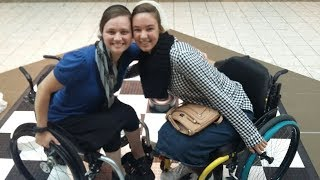 Wheelchair for a day challenge with Angela