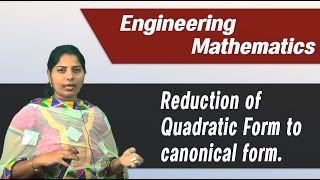 Best Engineering Mathematics Tips & Tricks:Reduction of quadratic to canonical form