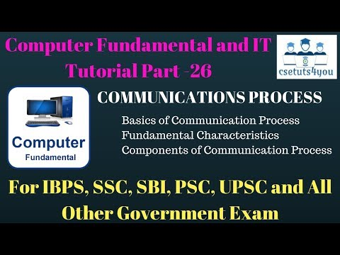 Computer Fundamental and IT Tutorial Part - 26 Explanation of Communication Process