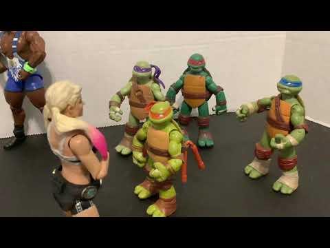 WWE Toys Alexa Bliss Teenage Mutant Ninja Turtles Part 2