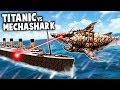Mega MECHA SHARK Attack Vs TITANIC Forts Modded Gameplay Shark Vs Boat mp3