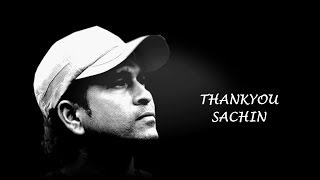 Thank You Sachin  A tribute to the God of Cricket