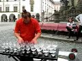 Czech Glass Harpist