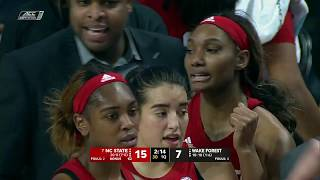 2019.01.31 #7 NC State Wolfpack at Wake Forest Demon Deacons Women's Basketball