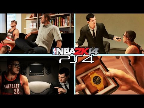 PS4 NBA 2K14 MyCAREER: New Agent Kia and Adidas Endorsements Playstation 4 Gameplay