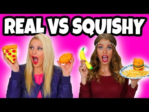 Squishy vs Real Food Challenge. Real Food vs Squishy Toys. Totally TV