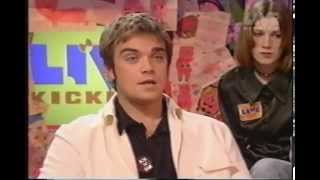 Robbie Williams - Hot Seat Interview on Live & Kicking - 1996
