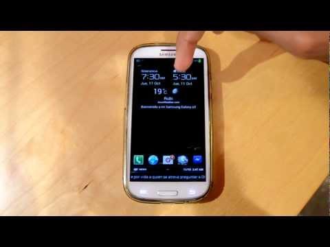 Complet Tutorial   Personalizar Iconos de la pantalla de bloqueo   Samsung Galaxy S3