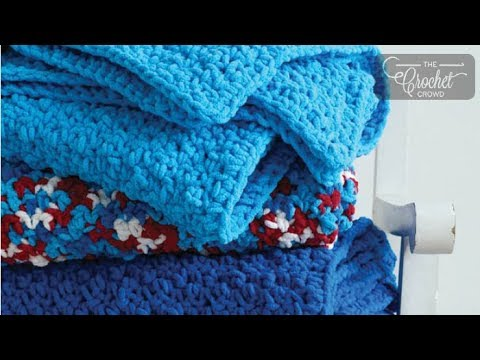 How to Crochet A Blanket for Beginners - Pebble Stitch Throw