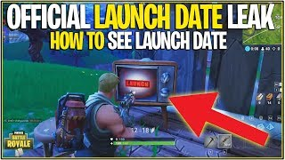 *NEW* Fortnite: DATA MINED OFFICIAL LAUNCH DATE!   (June 30th, end of Season 4) *Ending Info*