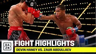 HIGHLIGHTS | Devin Haney vs. Zaur Abdullaev