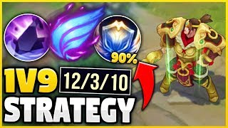 THE EASIEST WAY TO 1V9 CARRY WITH GAREN IN SEASON 9! (100% EASY WIN STRATEGY) - League of Legends