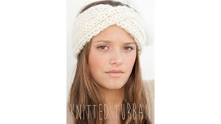 KNITTING TUTORIAL - TWISTED TURBAN