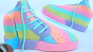 How To Make Rare Sneaker Pastel Dough And Cutting Open Mighty Toys Learn Colors