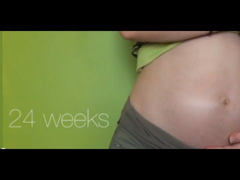 24 Weeks Pregnant - Baby In My Ribs, Leg Cramps, Lactation??? video
