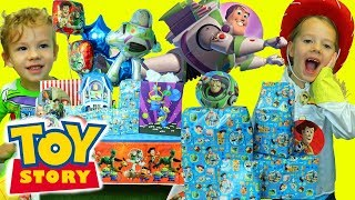 TOY STORY 4 Birthday Party With Buzz Lightyear Presents \u0026 Games