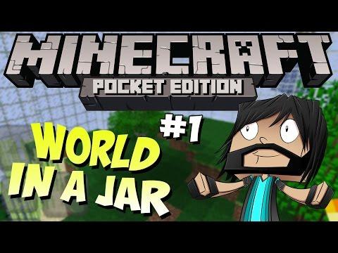 Minecraft PE Pocket Edition : World In A Jar Part 1 DIAMONDS
