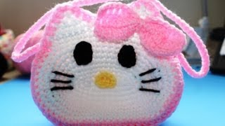 "Easy to Crochet ""Hello Kitty"" Inspired Purse - Video 1"