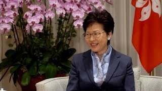 Hong Kong chief executive shares her high-speed railway experience