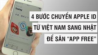 4 bước chuyển sang Apple ID Nhật để săn APP FREE | Điện Thoại Vui