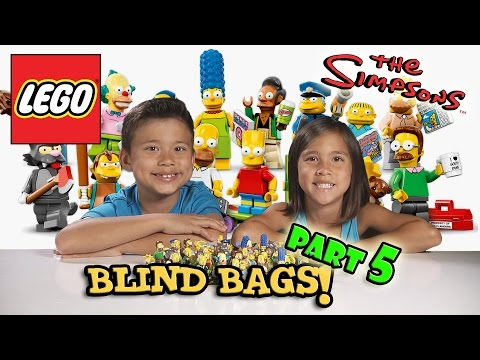 LEGO The SIMPSONS Minifigures 20 PACKS! Blind Bag Opening PART 5
