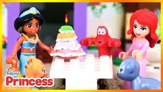 Lego Disney Princess Jasmine Birthday Cake & Surprise Guest (Stop Motion Animation Kids Toys) 2018