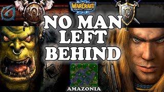 Grubby | Warcraft 3 TFT | 1.29 | ORC v HU on Amazonia - No Man Left Behind
